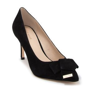 Cole Haan Ophelia Suede Pointed Toe Black Heels